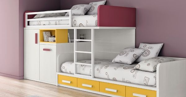 Dormitorios infantiles y juveniles para ni as ni os y - Muebles tren infantil ...