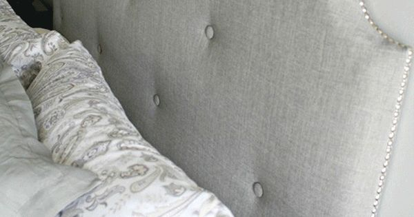 DIY Padded Headboard. I am sooooo doing this in the spring!!