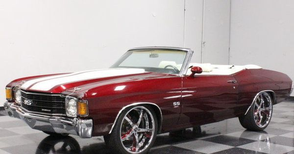 1972 chevrolet chevelle custom painted drop top 454 drenched in chrome custom cars for sale. Black Bedroom Furniture Sets. Home Design Ideas