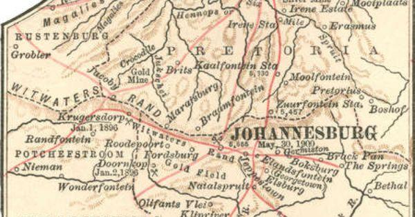 Old Map Johannesburg Google Search Johannesburg Africa Map