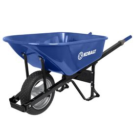 Kobalt 6 Cu Ft Steel Wheelbarrow With Flat Free Tire 75 Lowes