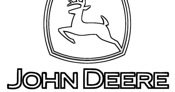 John Deere Tractor Coloring Pattern : John deere logo tractor coloring page you can print out