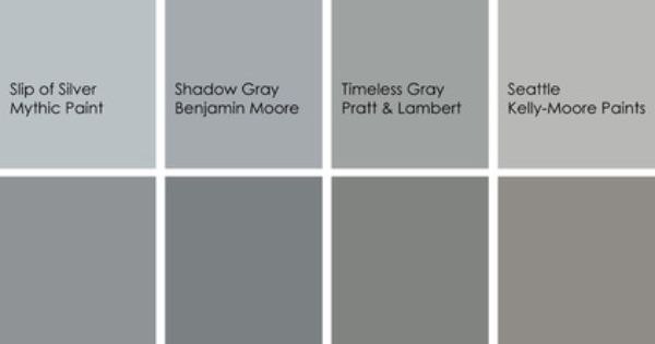 Gray Paint Picks For Bathrooms Clockwise From Top Left