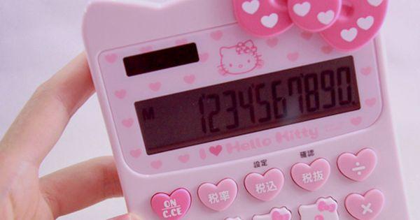 Hello Kitty Calculator Materiais Escolares Bonitos Fofa Papelaria Fofa
