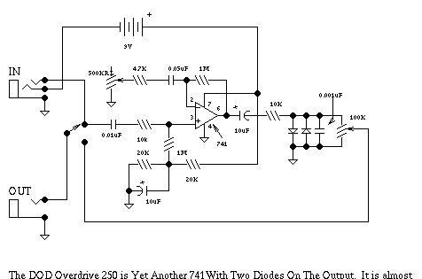 dod guitar distortion schematic electronic schematics dod guitar distortion schematic electronic schematics search and guitar