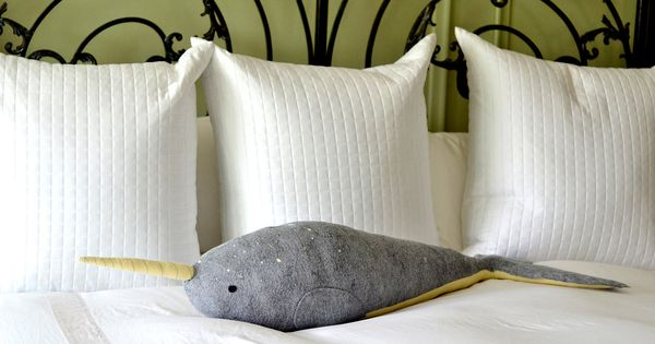 Oversized narwhal pillow by MountRoyal Mint on Etsy