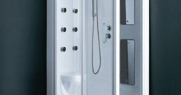 Fully enclosed shower tiny bathroom pinterest shower for Fully enclosed shower