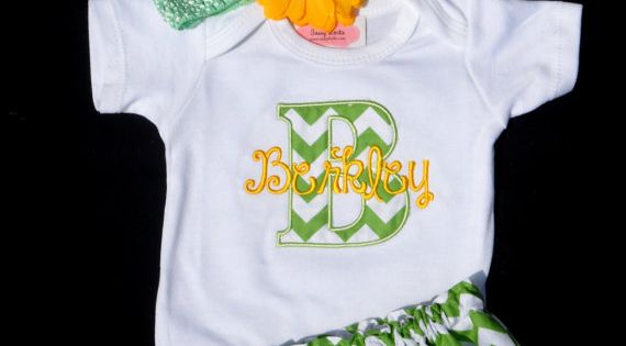 Personalized Baby Girl Clothes Newborn Girl Take Home Outfit Chevron Baby Girl