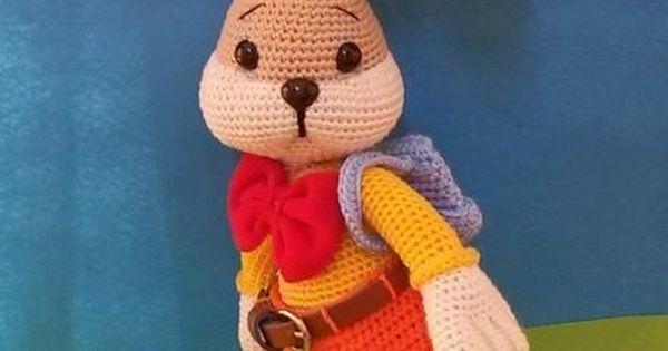 Amigurumi Janes : Bunny Goes To School-Amigurumi Crochet Pattern Hase ...