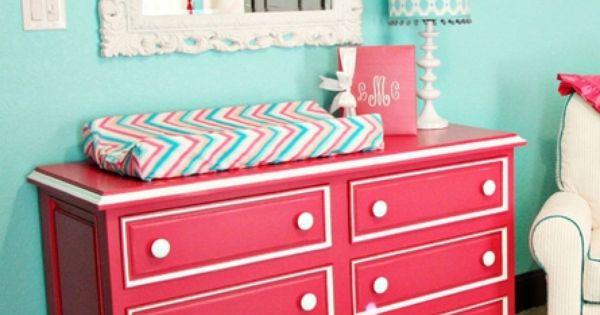 Hogan Six Drawer Scalloped Dresser Dresser Hot Pink And