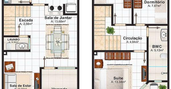 Plano de casa de 106 m2 planos pinterest