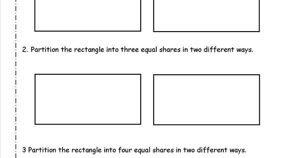 Partitioning Shapes Into Equal Parts Worksheet Google