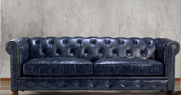 44++ Grey leather chesterfield chair inspirations