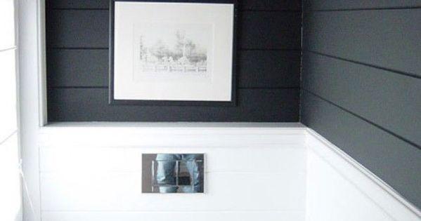 Get The Look Shiplap Walls Dark Walls Half Baths And Slate