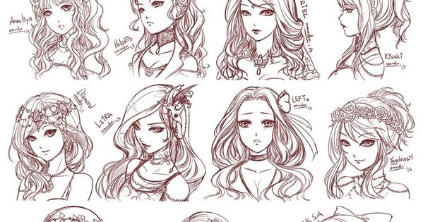 Character Design Hairstyles : Anime hairstyles styles of hair eyes