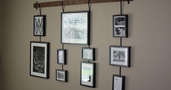 id e originale pour l 39 accroche de nombreux tableaux sans faire trop de trou dans le mur frames. Black Bedroom Furniture Sets. Home Design Ideas