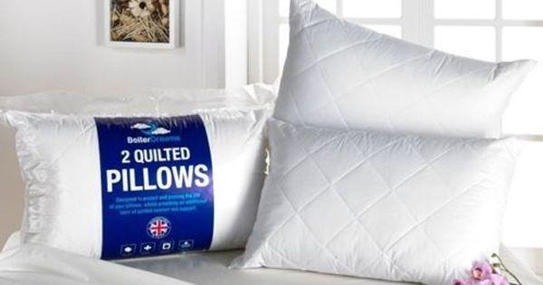 Hotel Quality High Loft Virgin Hollow Fibre Filled Pillows 2,4,6,8 /& 10 Packs