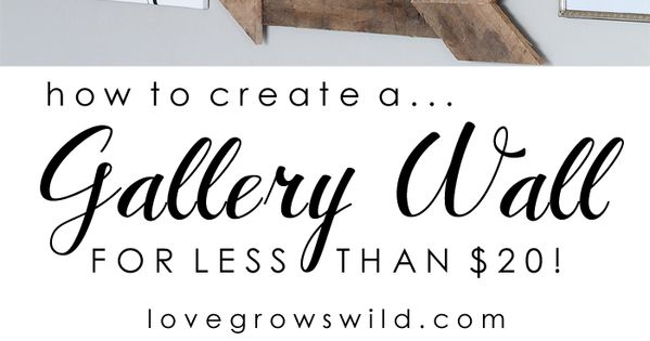 Thrift savvy and DIY gallery wall (love the color theme of gold,
