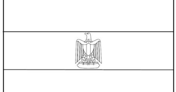 Egypt flag colouring page Countries Cultures Egypt