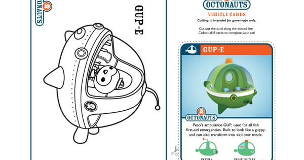 The Octonauts Coloring Pages And Crafts Disney Junior