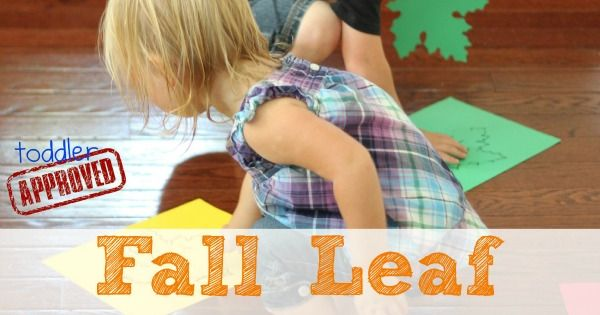 Toddler Approved!: Fall Leaf Alphabet Movement Activity