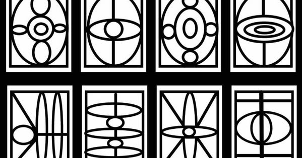 Free Geometric Stained Glass Window Coloring Pages By