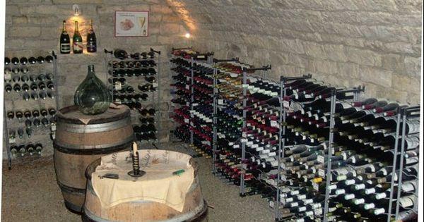 Cave sol gravier et echelle metallique cave vin pinterest cave vin et cr er - Deco wijnkelder ...
