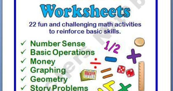 math enrichment worksheets with answer keys 6th 8th grade pinterest math enrichment math. Black Bedroom Furniture Sets. Home Design Ideas