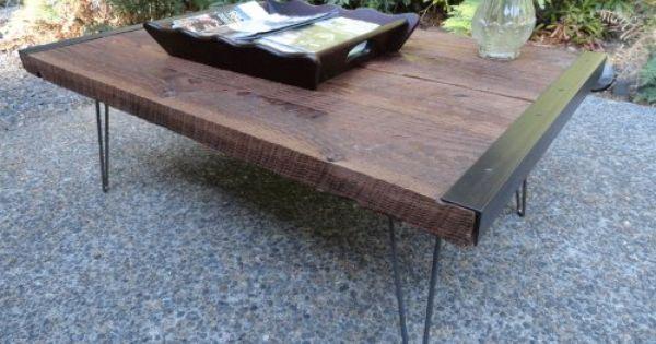 Industrial Coffee Table Mt Hood Wood Works