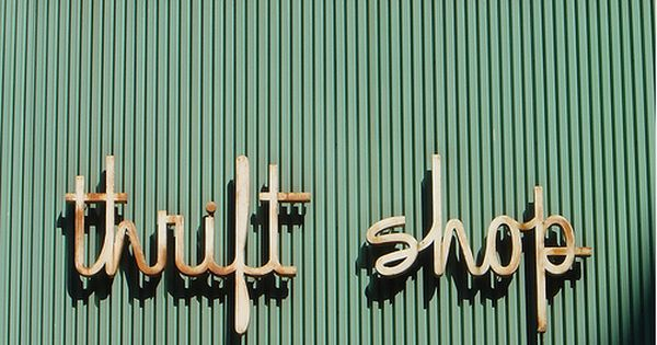Thrift Shop Vintage Thrift Stores Typography Shop Signs