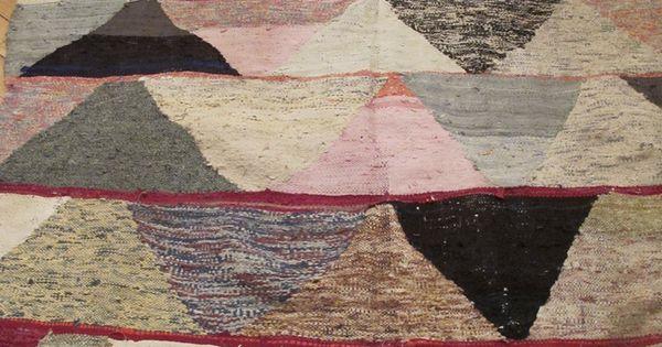 Tapis kilim hanbal marocain terre by les petits for Moquette geometrique