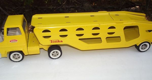 Toy Car Rack : Vintage s tonka car carrier hauler pressed steel