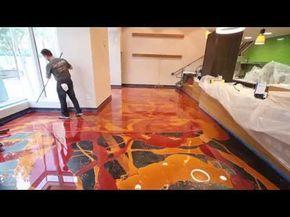 3d Kunstharz Bodenbeschichtung Design Resin Epoxy Floor Waterfall