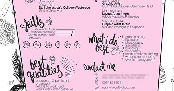 Curriculum Vitae 2015 On Behance Cv Kreatif Desain Cv Riwayat Hidup