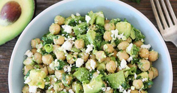 Chickpea, Avocado, & Feta Salad Recipe on twopeasandtheirpod.com Yum!