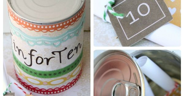 craft ideas for anniversary giggles galore tin for ten a 10th anniversary gift 3805