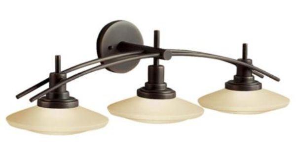 """Shop Kichler Lighting 4 Light Bayley Olde Bronze Bathroom: Structures Bronze 30"""" Wide Bathroom Light Fixture"""