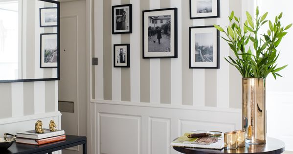 You can't beat stripes for elegance - taupe or dark beige and