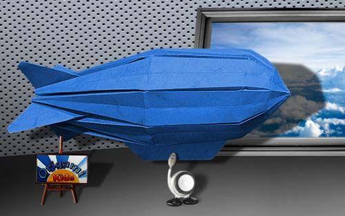 Origami Zeppelin By John Szinger Origami Artist Kids Origami Zeppelin Craft