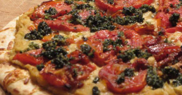 Tuscan White Bean Pizza with Roasted Tomato Aioli   Vegetarian Pizza ...