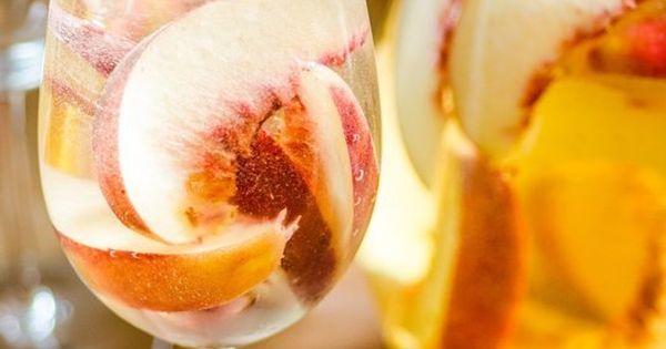 Sparkling White Peach Sangria | Recipe | White peach ...