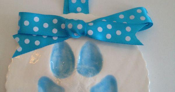 Dog Paw Print Clay Keepsake The Ribbon Dog Paw Prints