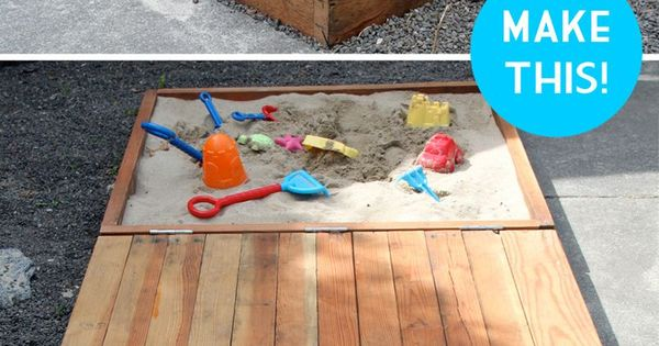 Deluxe DIY Sandbox Tutorial - I love how the lid acts as