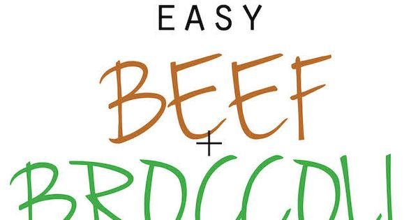 Easy Beef and Broccoli - The BEST beef and broccoli made in