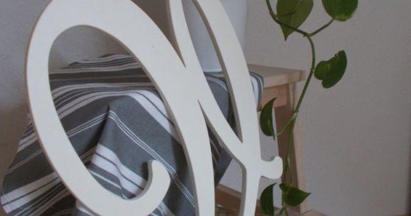 lettre d corative g ante en bois brut grande lettre en. Black Bedroom Furniture Sets. Home Design Ideas