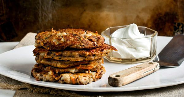 Savory Cottage Cheese Pancakes — Recipes for Health | Cottage Cheese ...