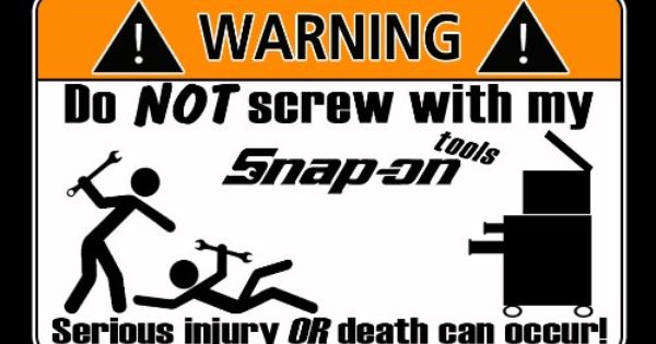 Garage Stickers Funny Toolbox Workshop Warning Stickers Dodgy Mechanic