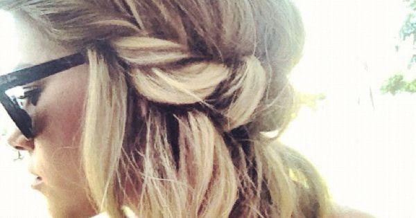 Beach hair style.