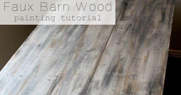 Faux Barn Wood Painting Tutorial With Images Barn Wood