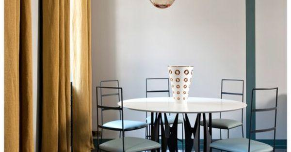 Idee de rideaux pour sejour ou salle manger plein soleil sarah lavoine revisite l esprit - Rideaux de salle a manger ...
